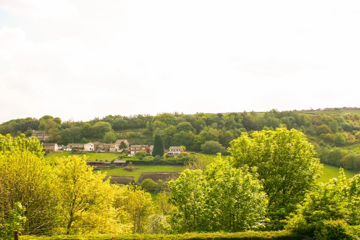 A View across the valley - All rooms in the house have great views