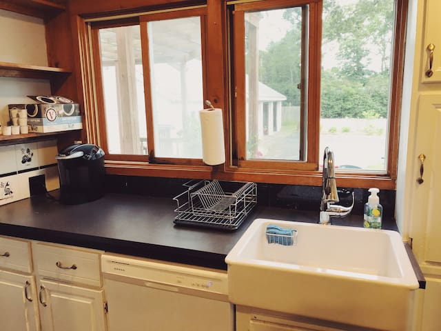 Kitchen with keurig and dishwasher