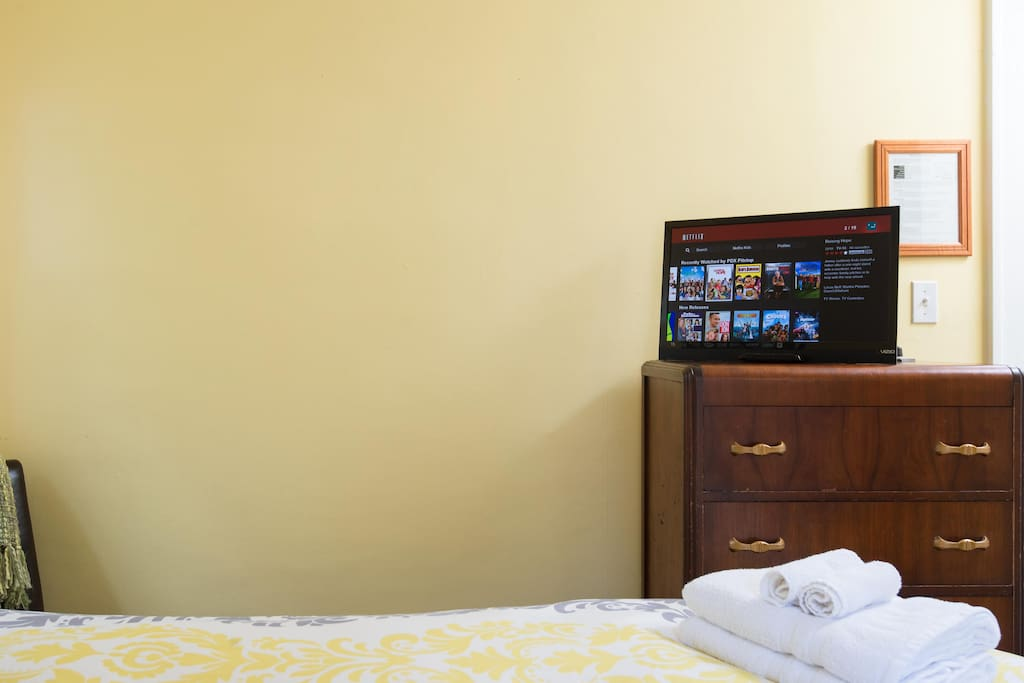 TV with Roku includes Netflix, Hulu Plus, Amazon Prime, and many other on-demand viewing options.