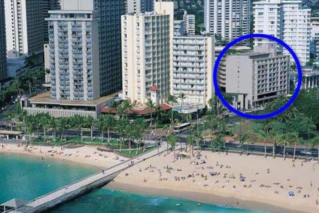 Just steps from Waikiki Beach