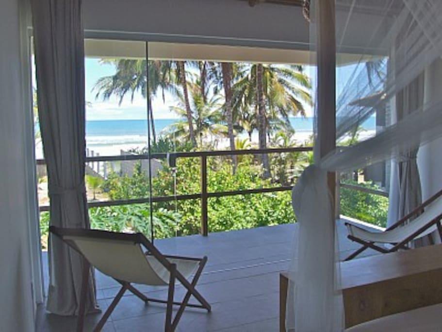 View from first floor bedroom suite