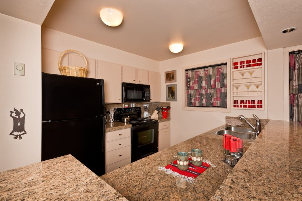 Well appointed kitchen with everything to make you feel like home!
