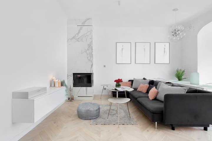 Elite Apartments Wajdeloty | kominek  & rzutnik   | GDAŃSK WRZESZCZ