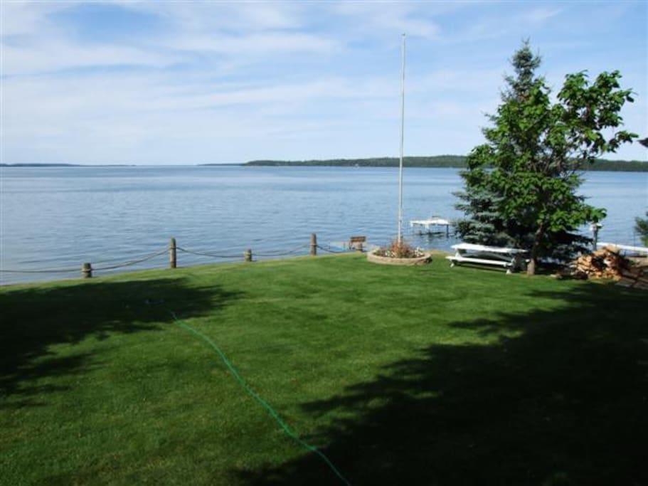Deck view of Leech Lake.