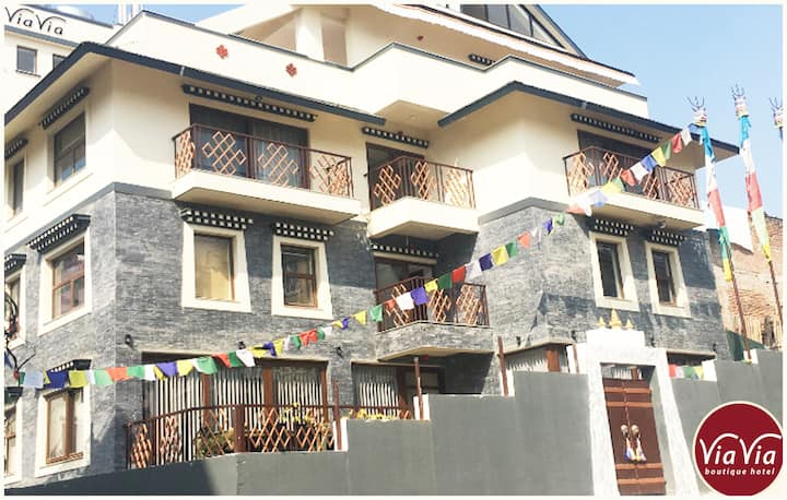 NEW Boutique Hotel in a quiet area near Boudhanath