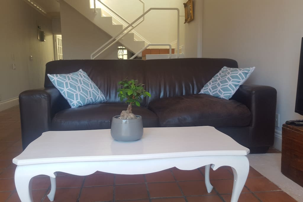 Comfy couches in the lounge - perfect for reading a book or catching up on some Netflix movies.