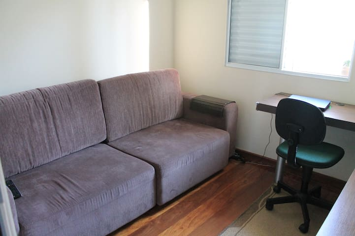 Double bed (sofa). Really comfortable.
