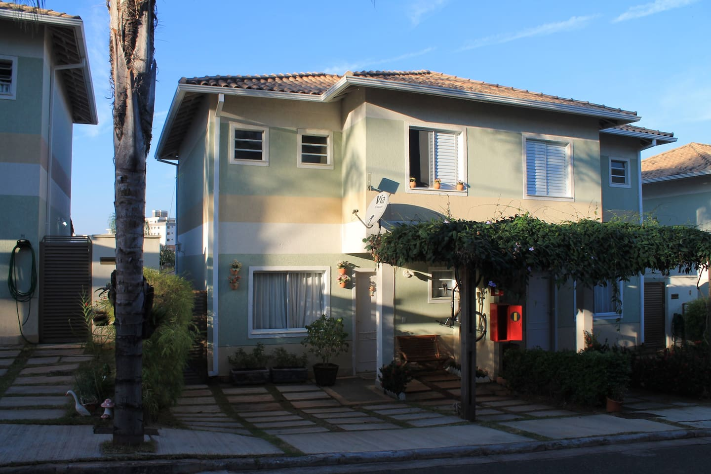 For rent beautiful two bedroom home in gated community with full security condominium.