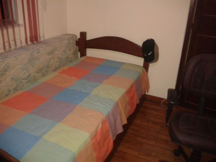 Bedroom 2 with single bed and auxiliary