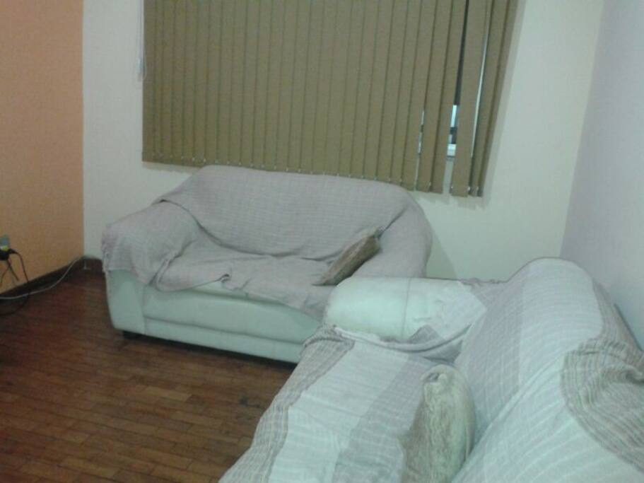 Living room with 2 sofa and tv
