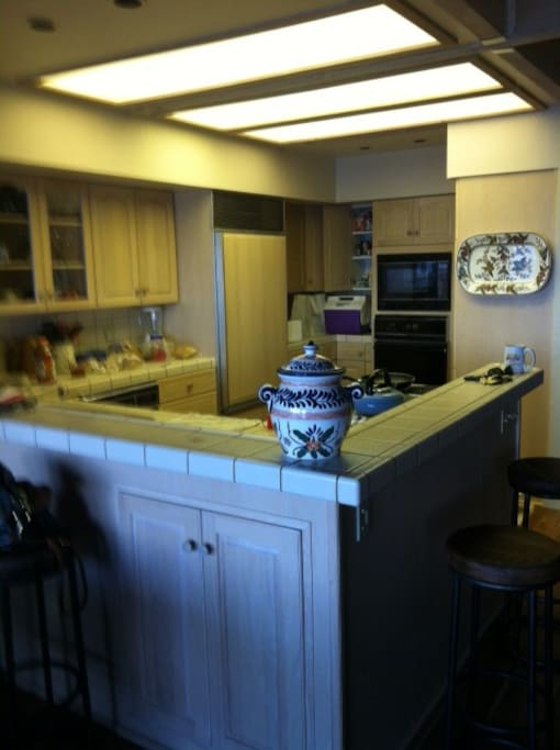 Large Kitchen and counter