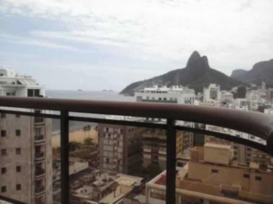 Vista da cobertura do prédio