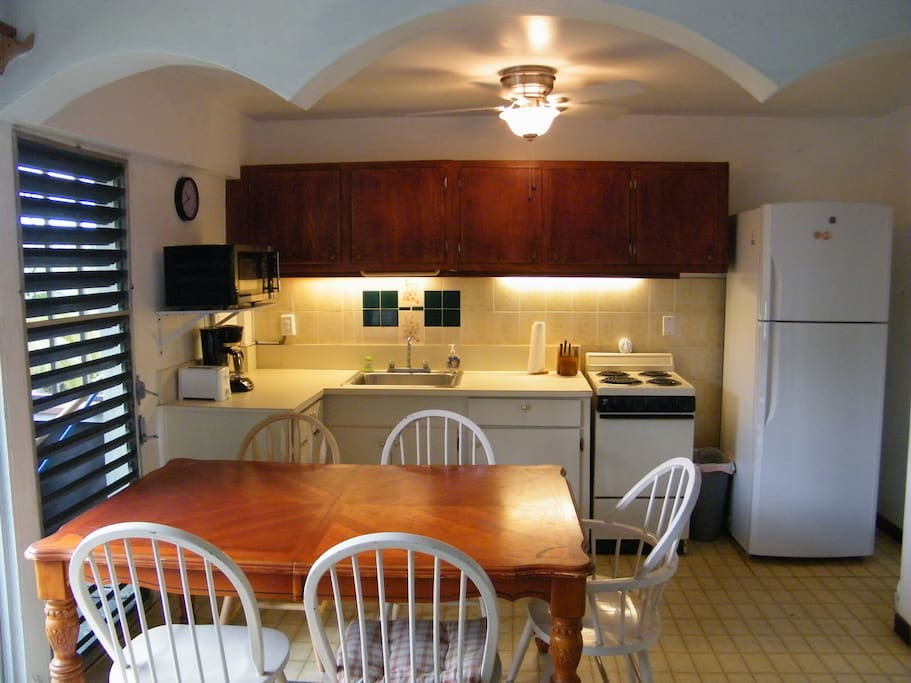 Updated Kitchen with New Overhead Fan & Light!
