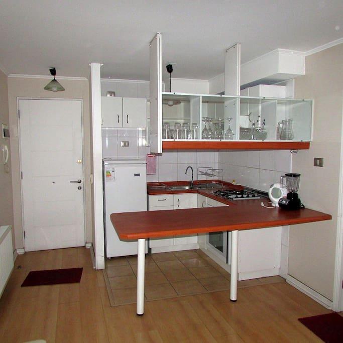 Vista panorámica de la cocina