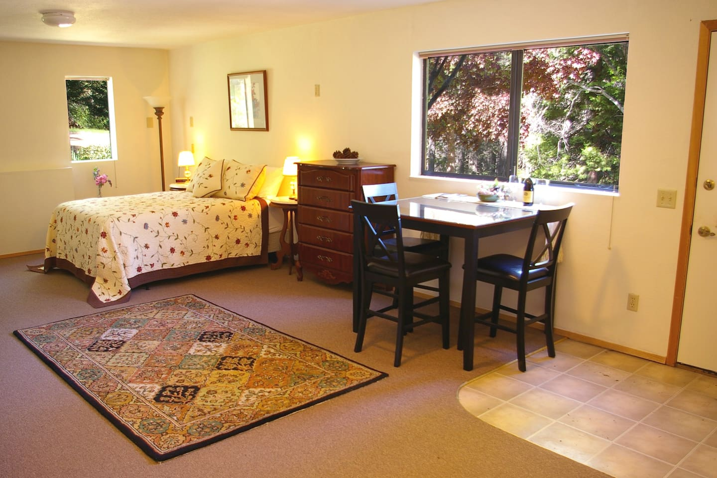 Mt. Shasta Forest Retreat. Here is a view of the interior of the apartment.