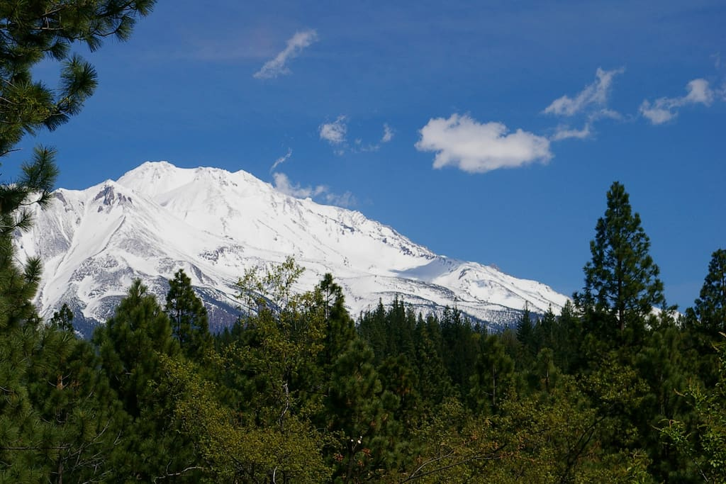This is the view of Mt. Shasta from the front window of the apartment.