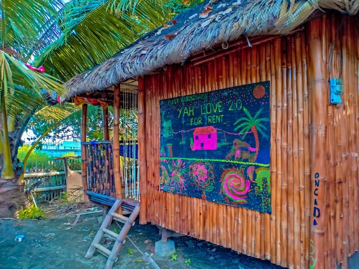 Nipa hut for rent facing the ocean just near city