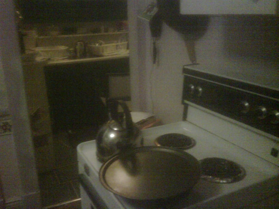 kitchen before stove was moved and sink exchanged for a double