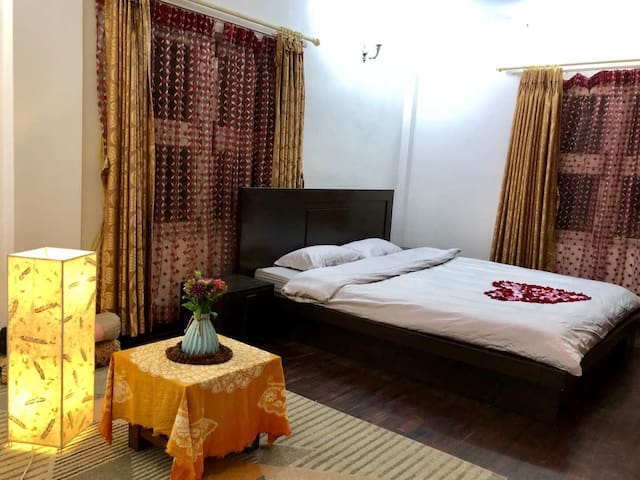 At Villa• one big sweet room with AC and  bathroom