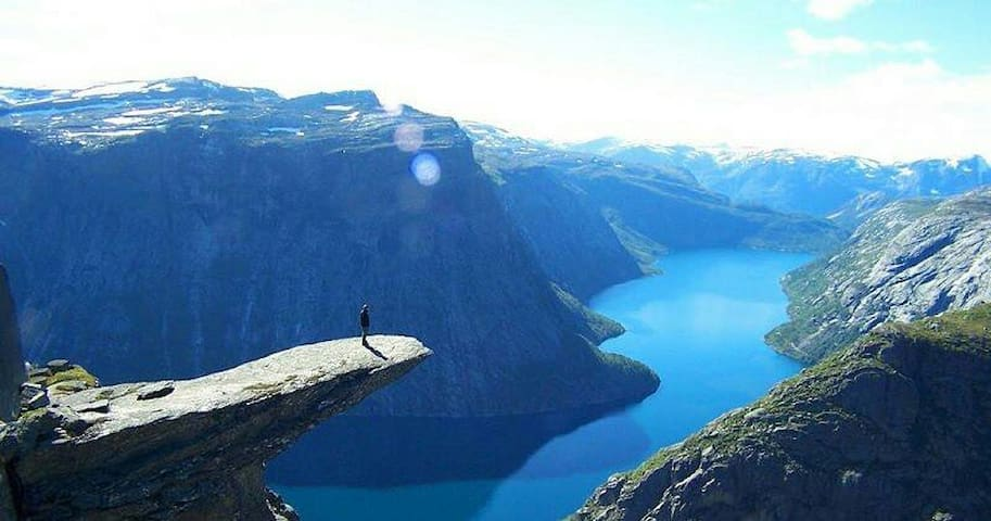 The footh of Trolltunga.. - Tyssedal