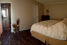 Master bedroom has private bathroom and large closet