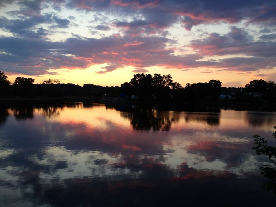 Another sunset view directly from our living room on the river!