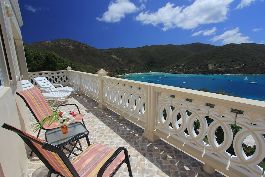 Our large sun Deck, with lounge chair and sitting chair for easy relaxation