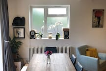 Dining Table and Record Player