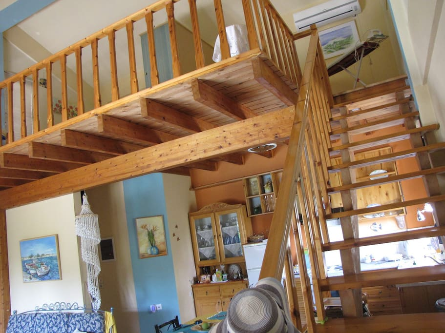 The stairs leading to the loft