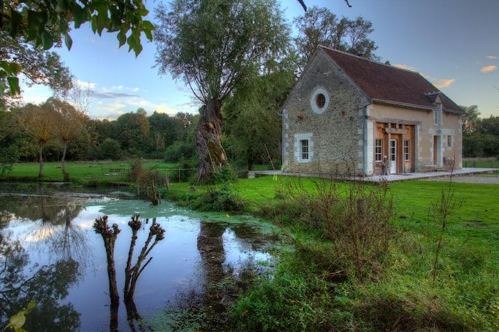 La Grange du Moulin de Breviande. Vert nature
