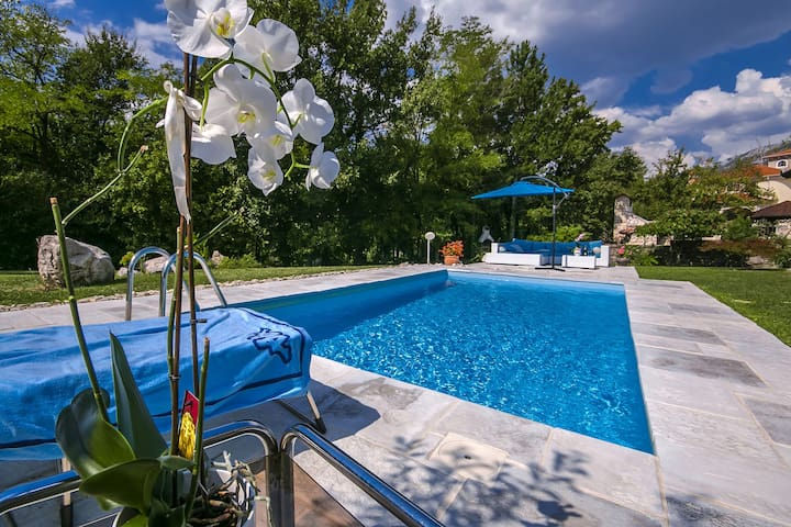 Villa Rupena with swimming pool - Buzet - Ev