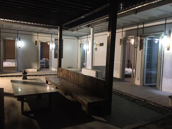 【留白之旅民宿馆】景区观景烧烤五居室
