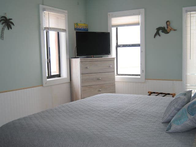 Bedroom # 1-King bed with ocean view from all windows.