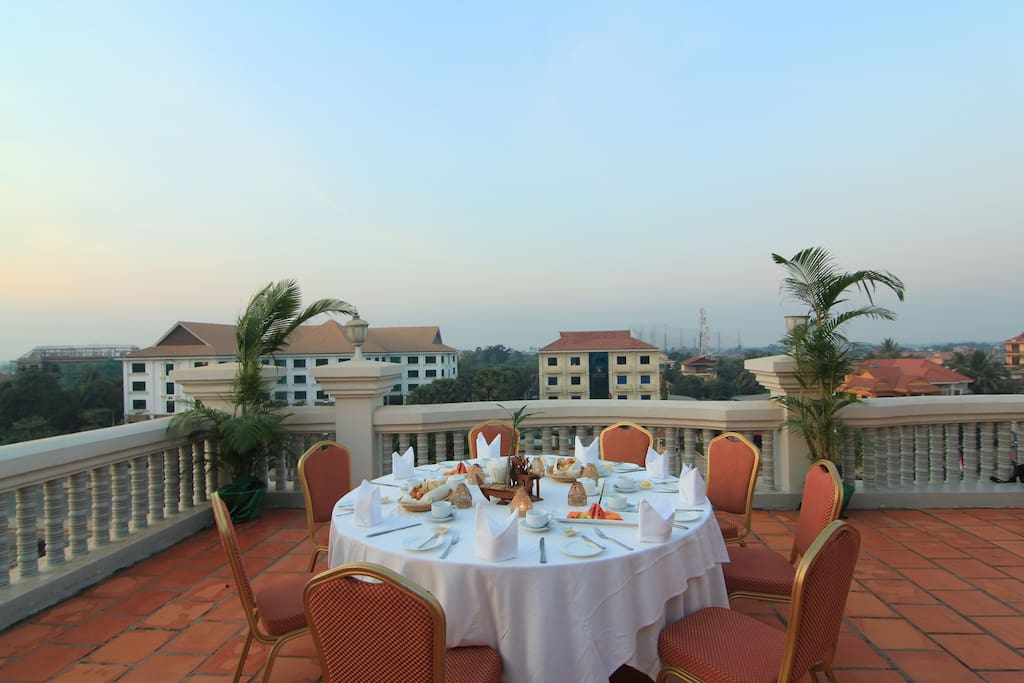 Dinner at the balcony