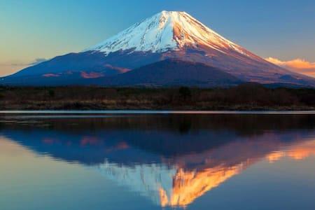 Mt fuji Ikitech house ! kawaguchi lake 新倉山浅間公園近く! - 富士吉田市 - Hus