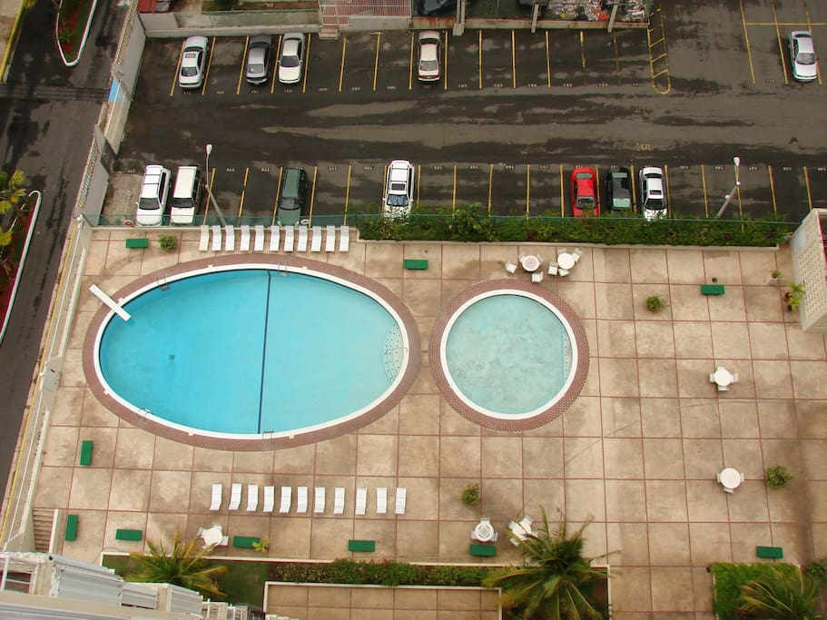 Building's swimming pool.