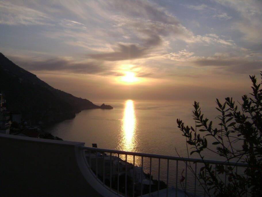 Sunrise from the breakfast terrace