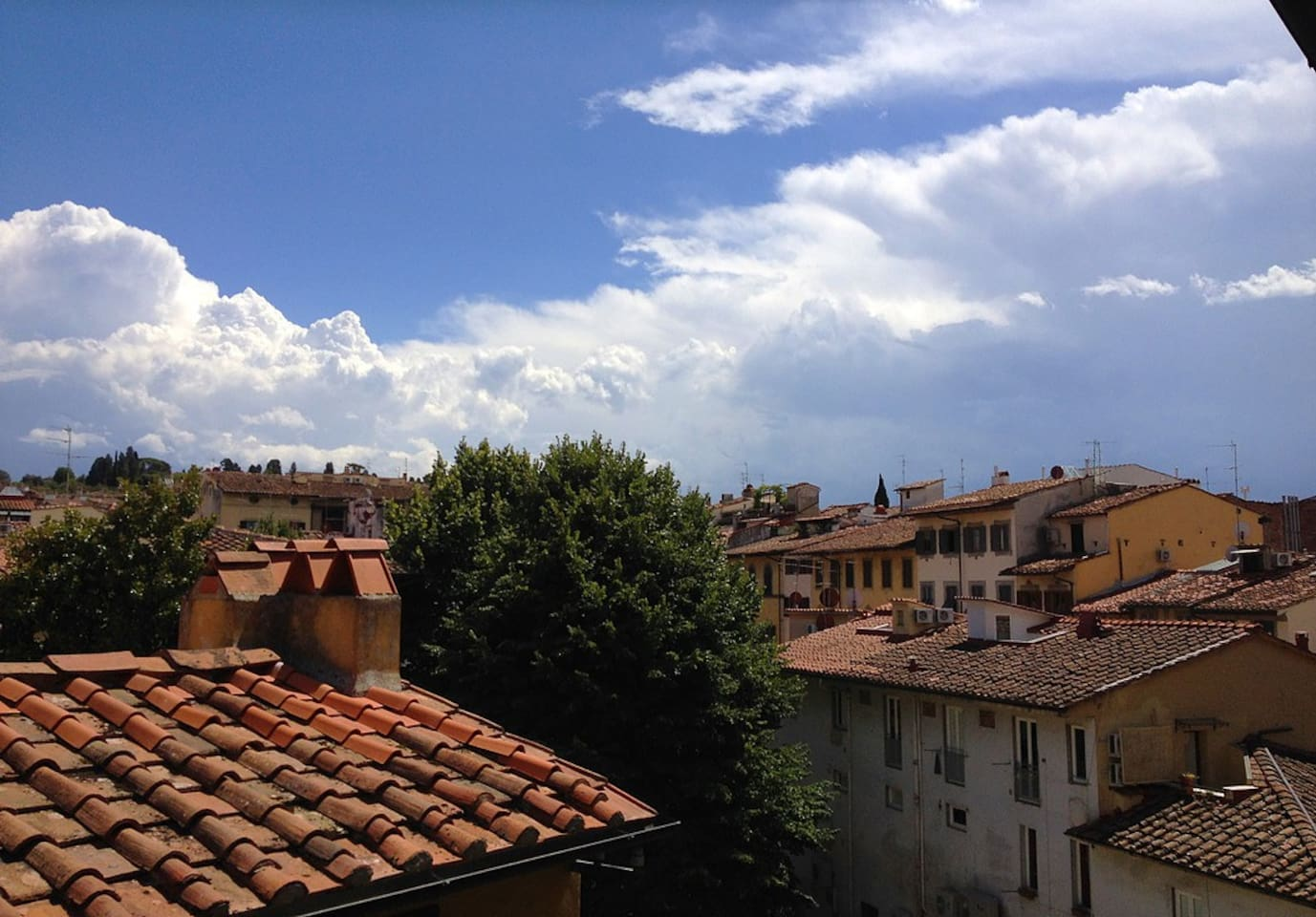 View of the Santo Spirito neighborhood's rooftops from the apartment