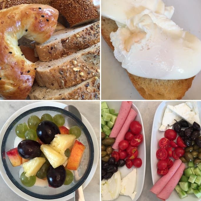 All sorts of choices for your included breakfast!