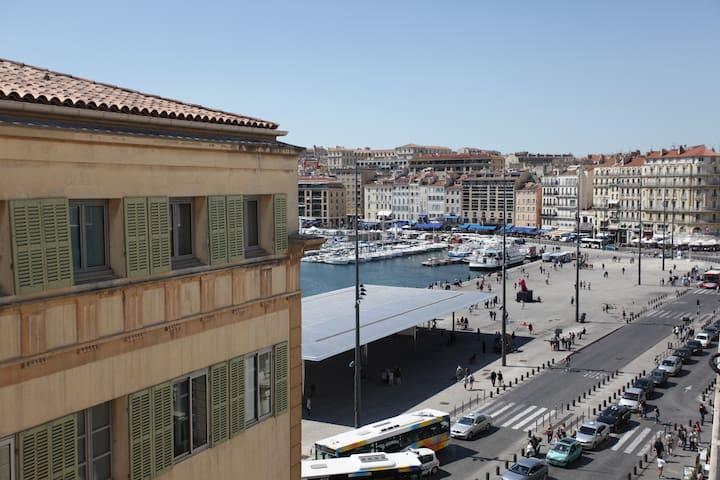 T2 lumineux balcon vue vieux port - Marseille - Apartemen