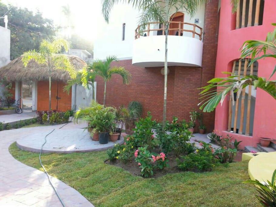 Agradables areas de jardin