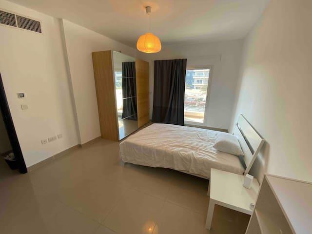 Master bedroom with private bathroom in villa