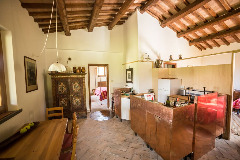 The cottage has a fully equipped kitchen and is perfect for families or groups of four.
