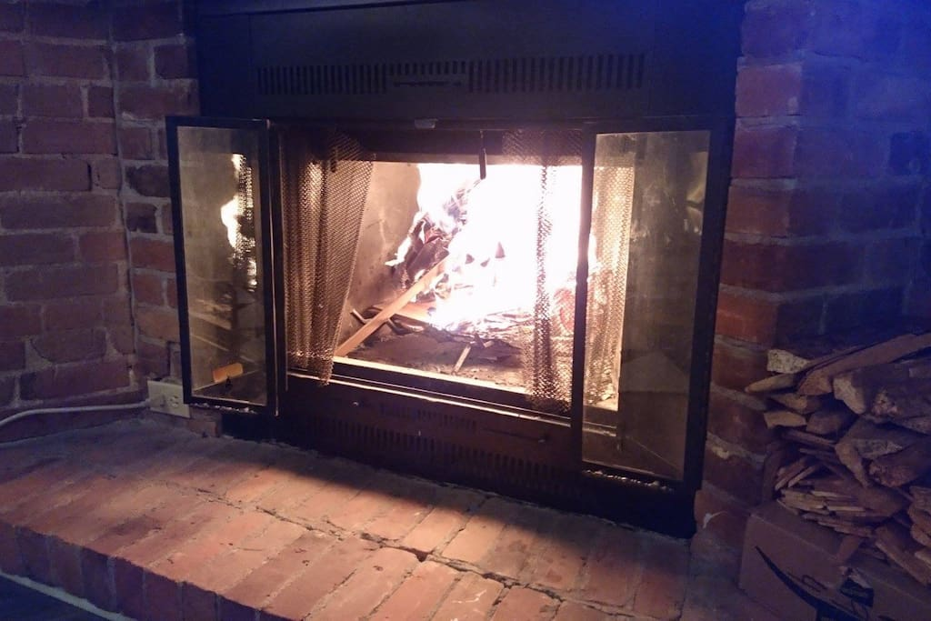 The fireplace, and wood for the cold months.