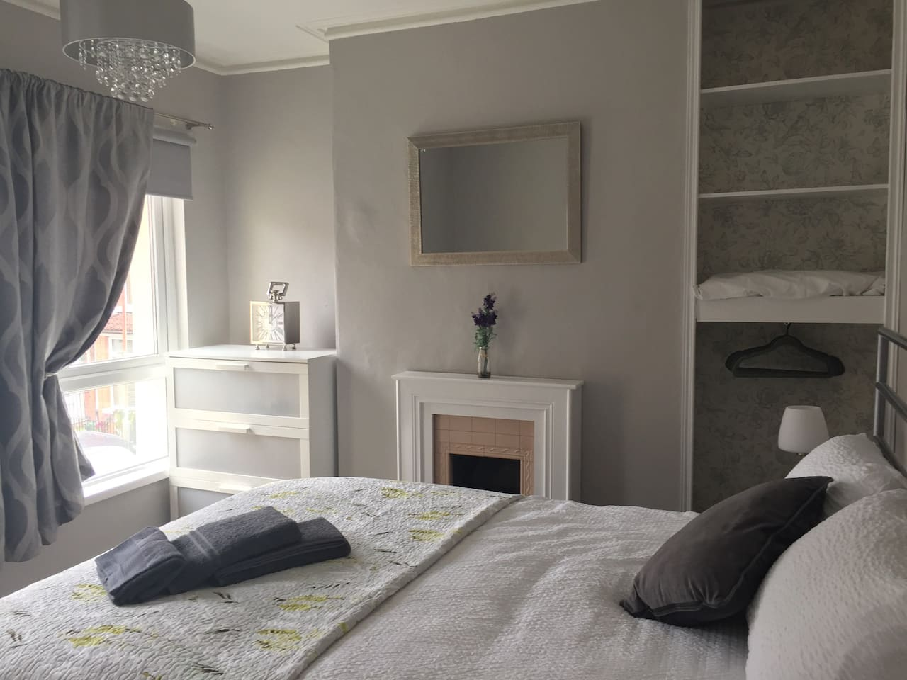 Main bedroom with lovely victorian features