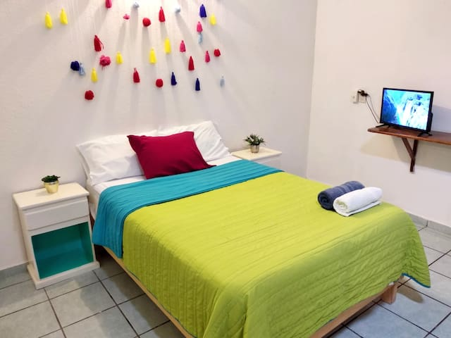 Comfortable and colorful apartment