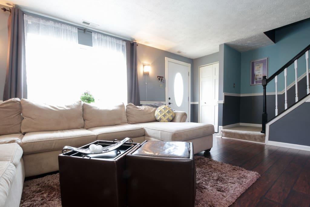 Spacious comfortable living room