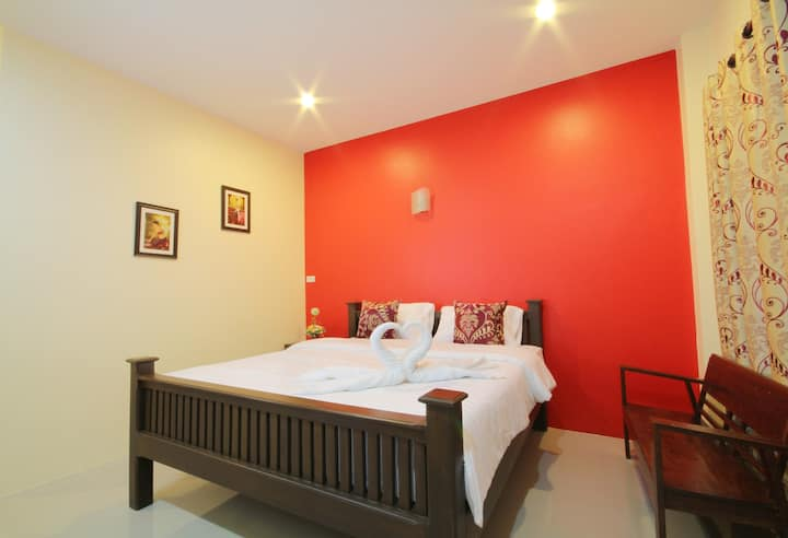 Double Bed, Blue House, Sukhothai