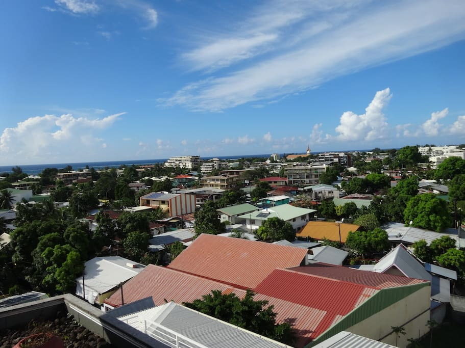 panoramic view of Papeete.