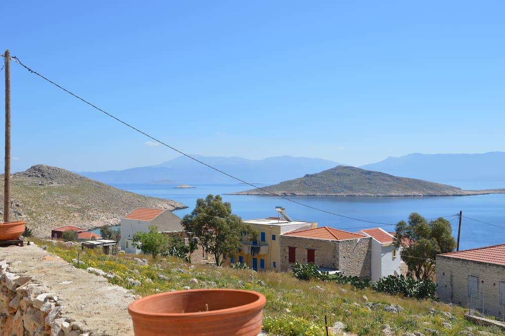 Πανοραμική θέα απο το Studio Marina